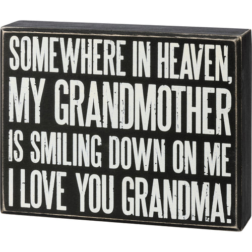 Box Sign - I Love You Grandma
