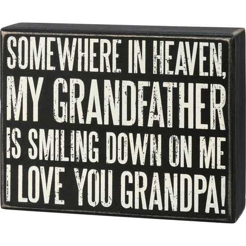 Box Sign - I Love You Grandpa