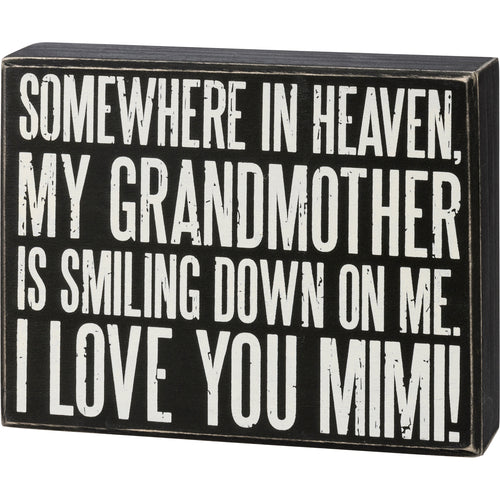 Box Sign - I Love You Mimi