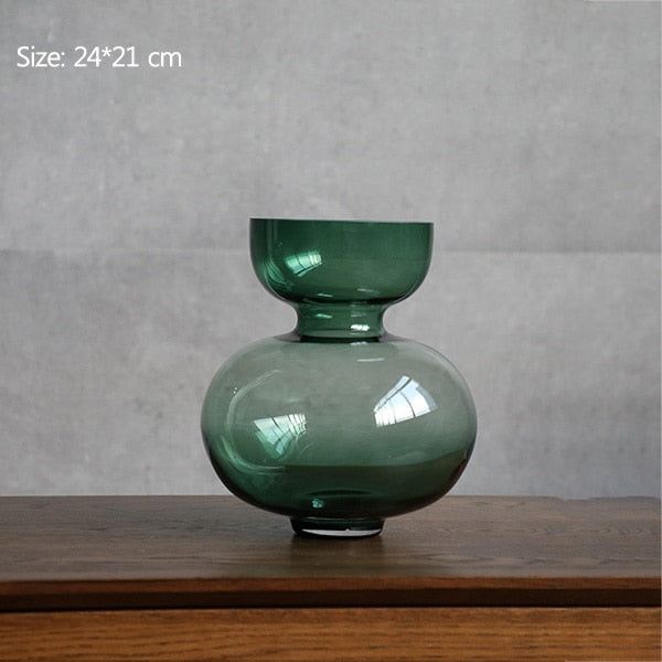 Eddie Emerald Glass Vase