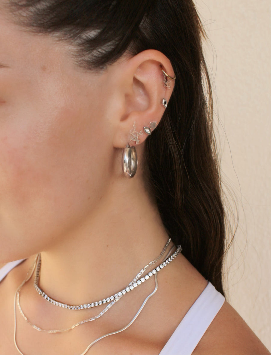 ROSIE CHIC HOOPS IN SILVER
