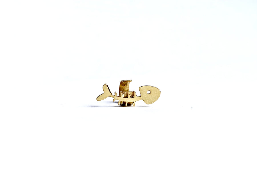 SKELETON EAR-CUFF IN GOLD