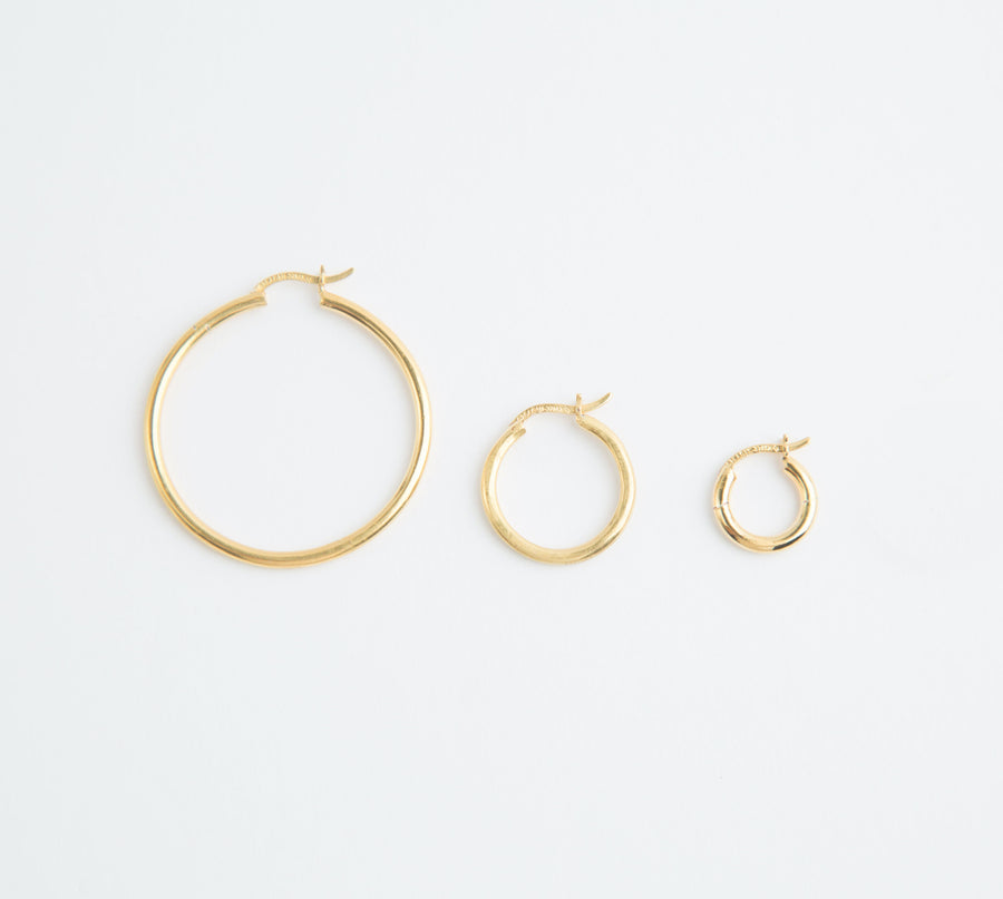 MEDIUM MINER HOOP IN GOLD