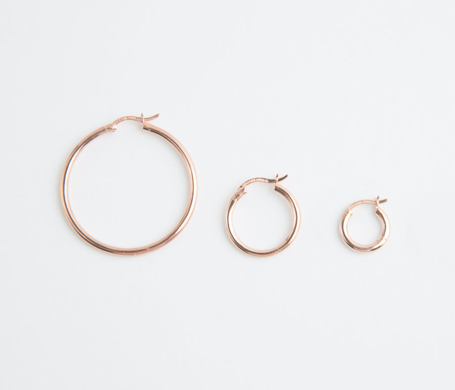 MINI NENA HOOP IN ROSÉ