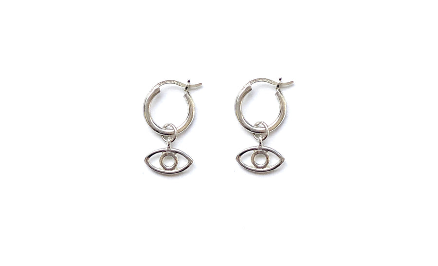 GIGI EYE MINI HOOPS IN SILVER