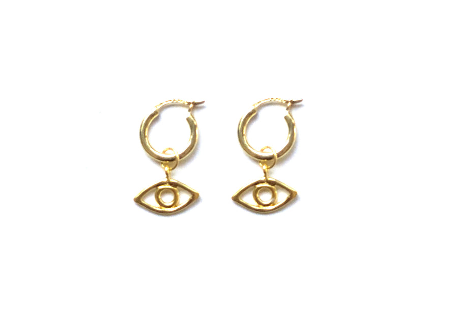 GIGI EYE MINI HOOPS IN GOLD