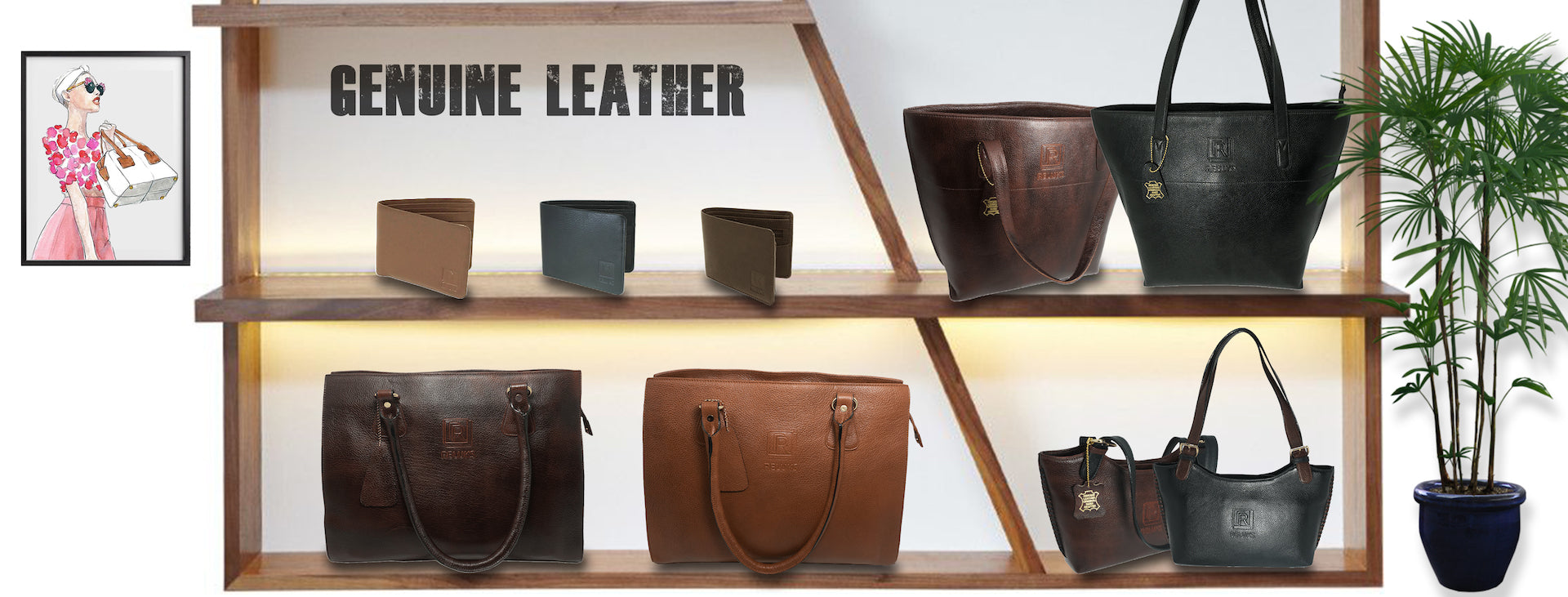 reluks leather bags and wallets collection