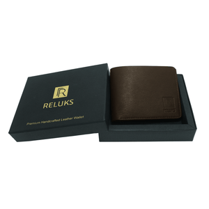 Handcrafted genuine leather brown wallet for men by RELUKS