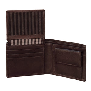 Brown Coin Pocket Wallet For Men