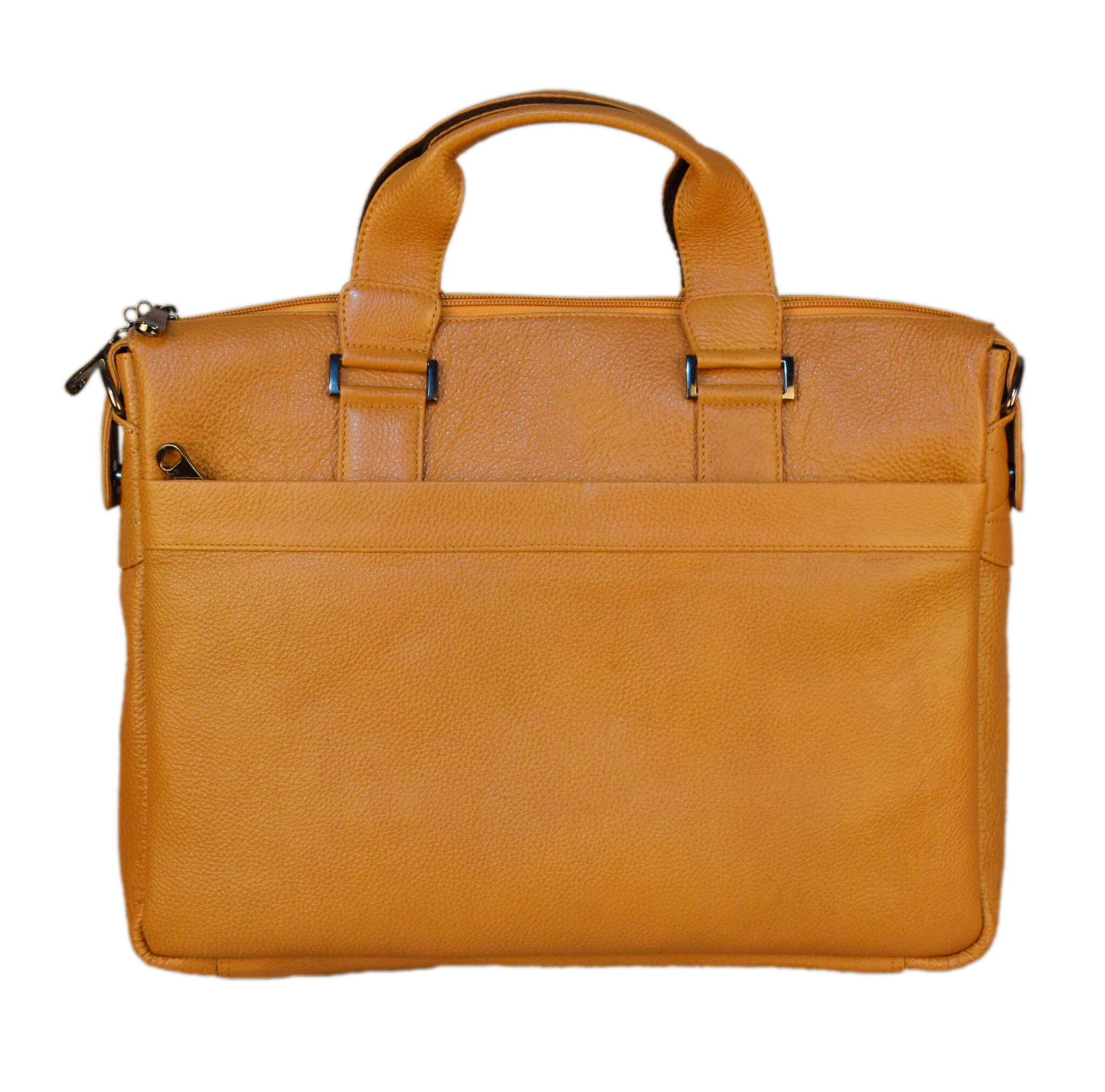 Messenger Camel Striped Laptop Bag