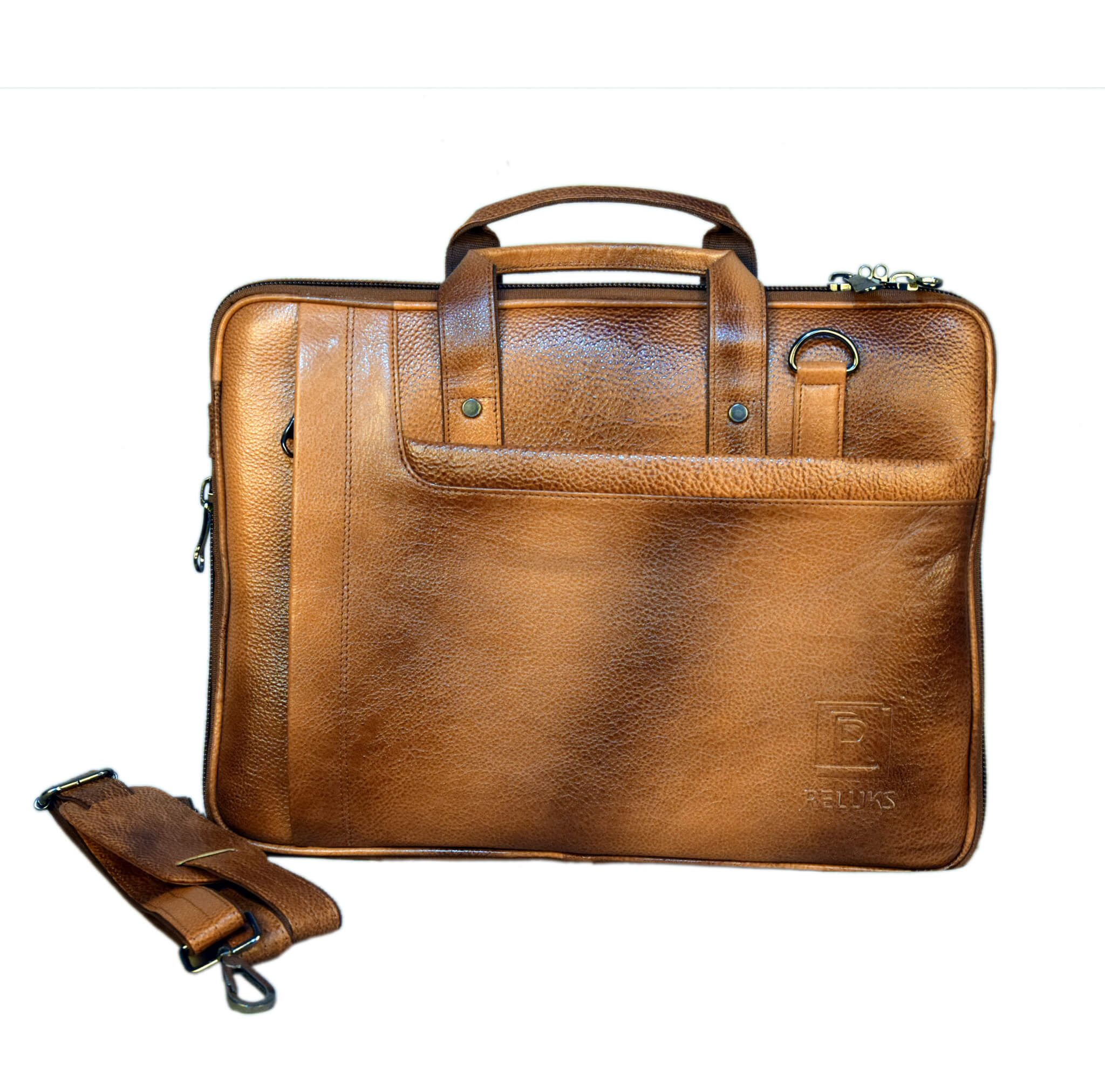 Messenger Patchy Brown Laptop Bag