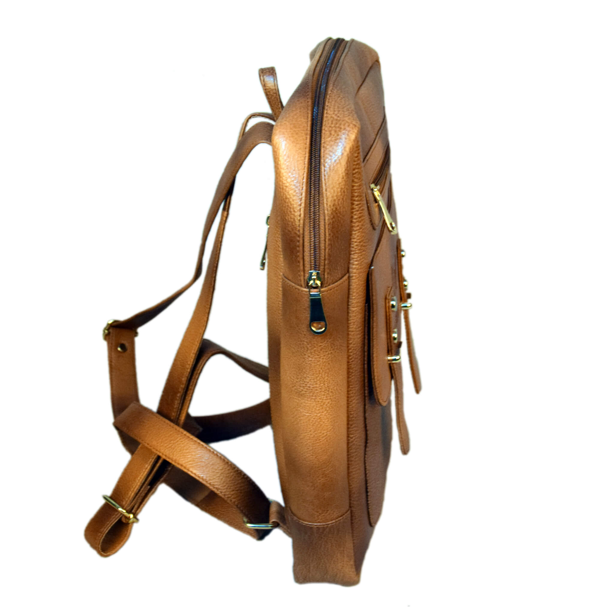 Brown Patchy Backpack