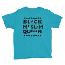 Load image into Gallery viewer, Black Muslim Queen™ (black text) Youth Short Sleeve T-Shirt