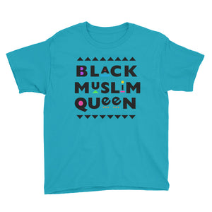 Black Muslim Queen™ (black text) Youth Short Sleeve T-Shirt