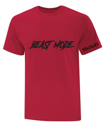 Resolute Unisex Tshirt - Red Beast Mode - Resolute Strength Wear