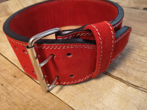 Clearance belt: 13mm Red prong belt - Resolute Strength Wear