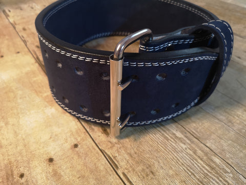 Clearance belt: Navy blue prong belt - Resolute Strength Wear