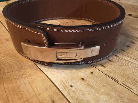 Clearance belt: Brown lever belt - Resolute Strength Wear
