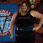 Resolute Curvy Racerback Tank - Black/Pink - Resolute Strength Wear
