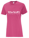 Resolute Curvy Tshirt - Pink - Resolute Strength Wear