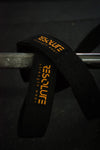 Resolute Lifting Straps Black/Orange - Resolute Strength Wear
