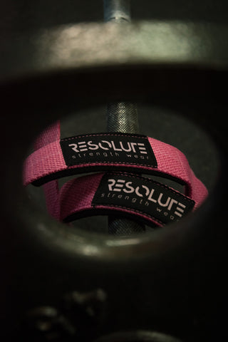 Resolute Lifting Straps Pink - Resolute Strength Wear