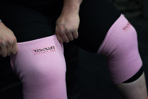Baby Pink Knee Sleeves - DOUBLE PLY - Resolute Strength Wear