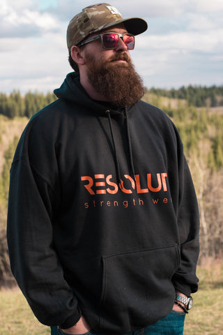 Resolute Hoodie - Black - Resolute Strength Wear