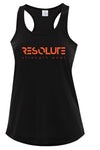 Resolute Curvy Racerback Tank - Black - Resolute Strength Wear