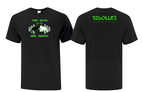 Two Guys One Bench Logo Tshirt - Resolute Strength Wear