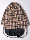 Vinti Andrews Faux Fur Plaid Shirt Jacket