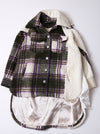 Vinti Andrews Plaid with Fleece Shirt Jacket