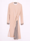 Vinti Andrews Beige Shirt Insert Dress