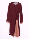 Vinti Andrews Maroon Shirt Insert Dress