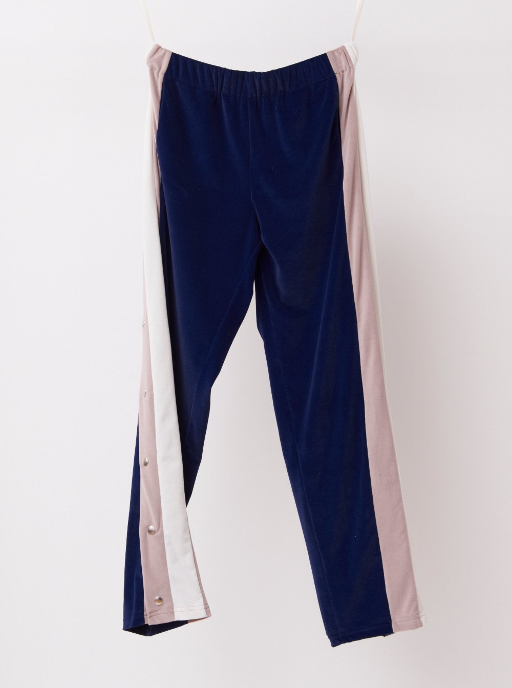 Vinti Andrews Poppers Velour Track Pants
