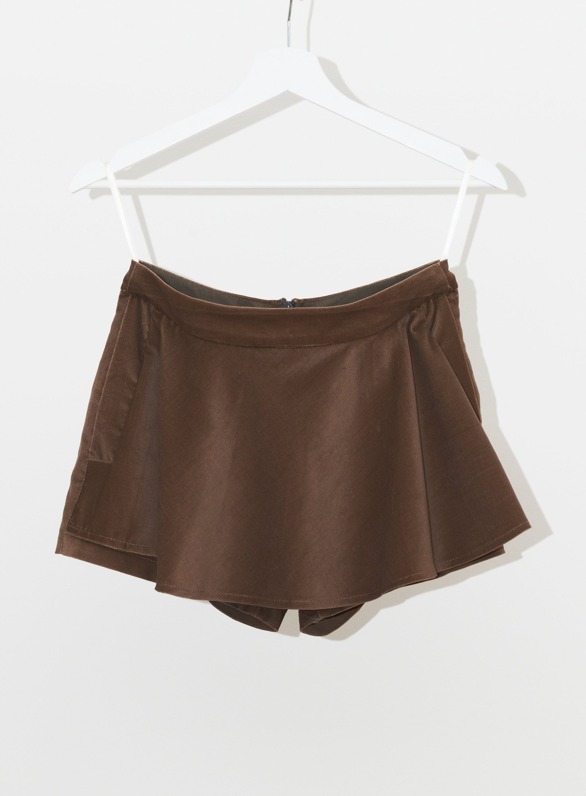 Vinti Andrews Velour Skirt Shorts