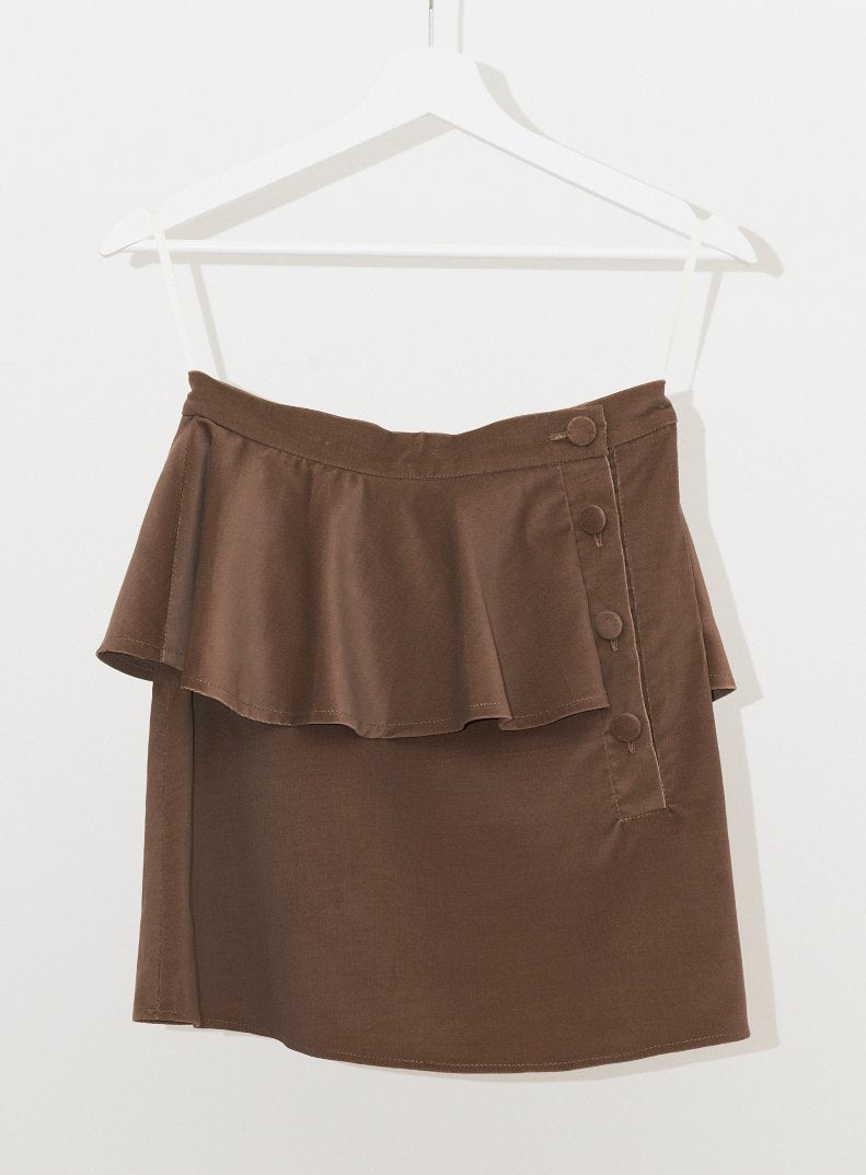 Vinti Andrews Velour Placket Skirt