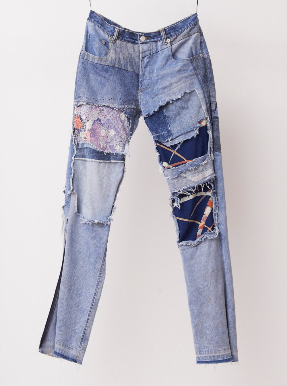 Vinti Andrews Reworked jeans with assorted Kimono Patch