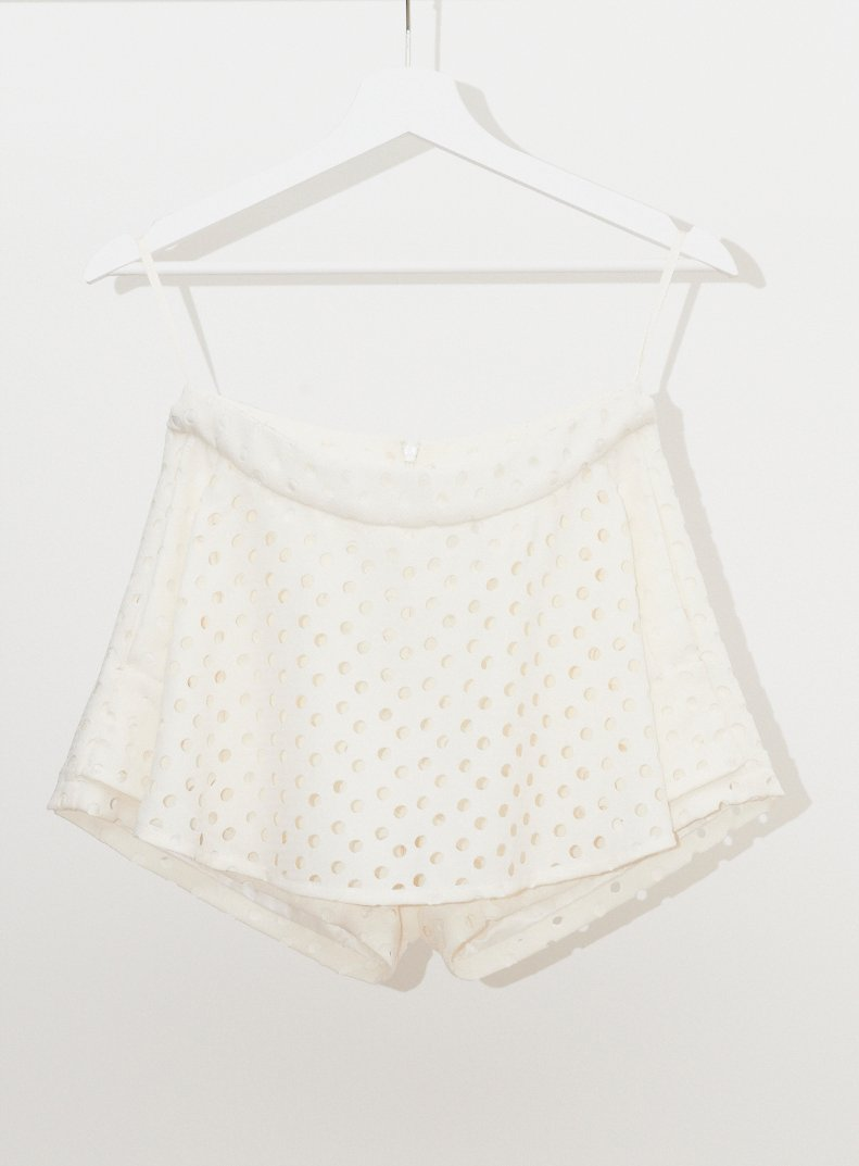Vinti Andrews Skirt Shorts White