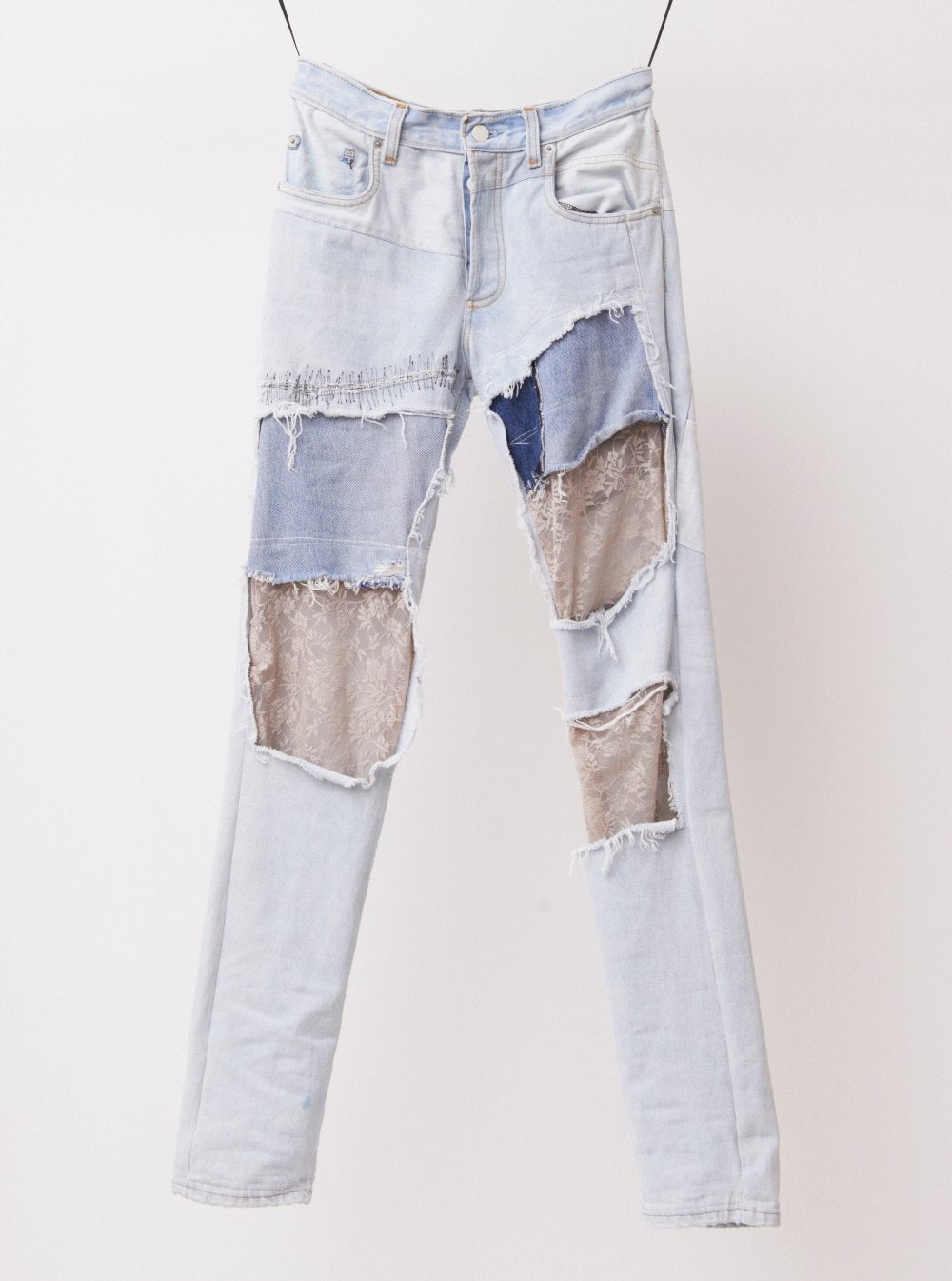 Vinti Andrews Reworked Jeans with Lace