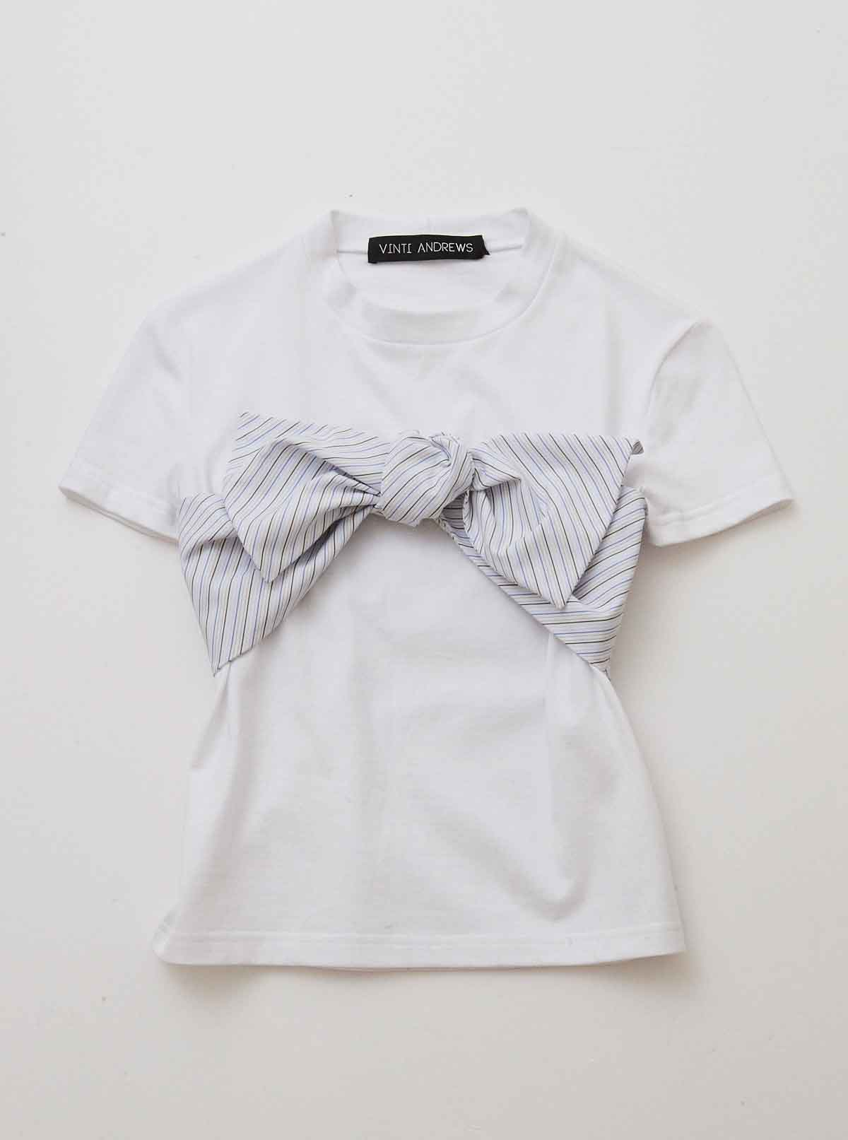 Vinti Andrews Bustier Bow T-Shirt