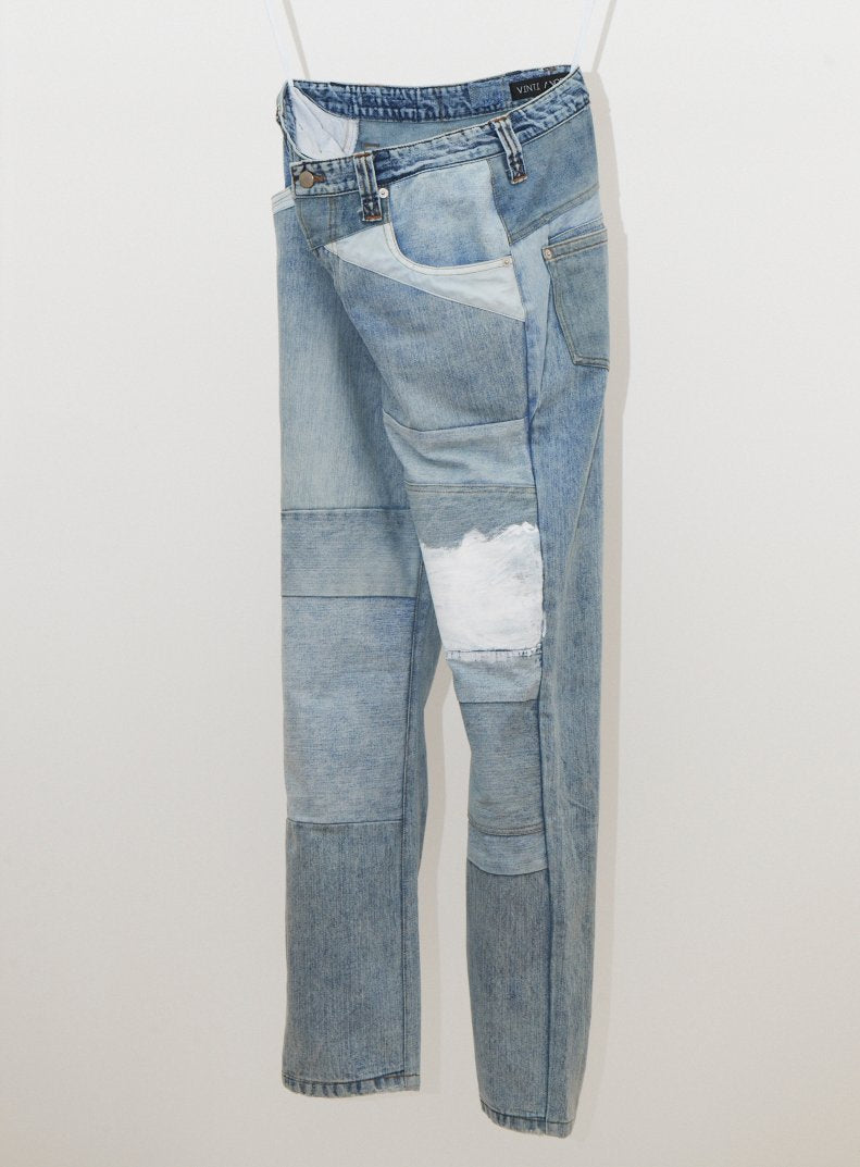 Vinti Andrews Reworked Painted Jeans