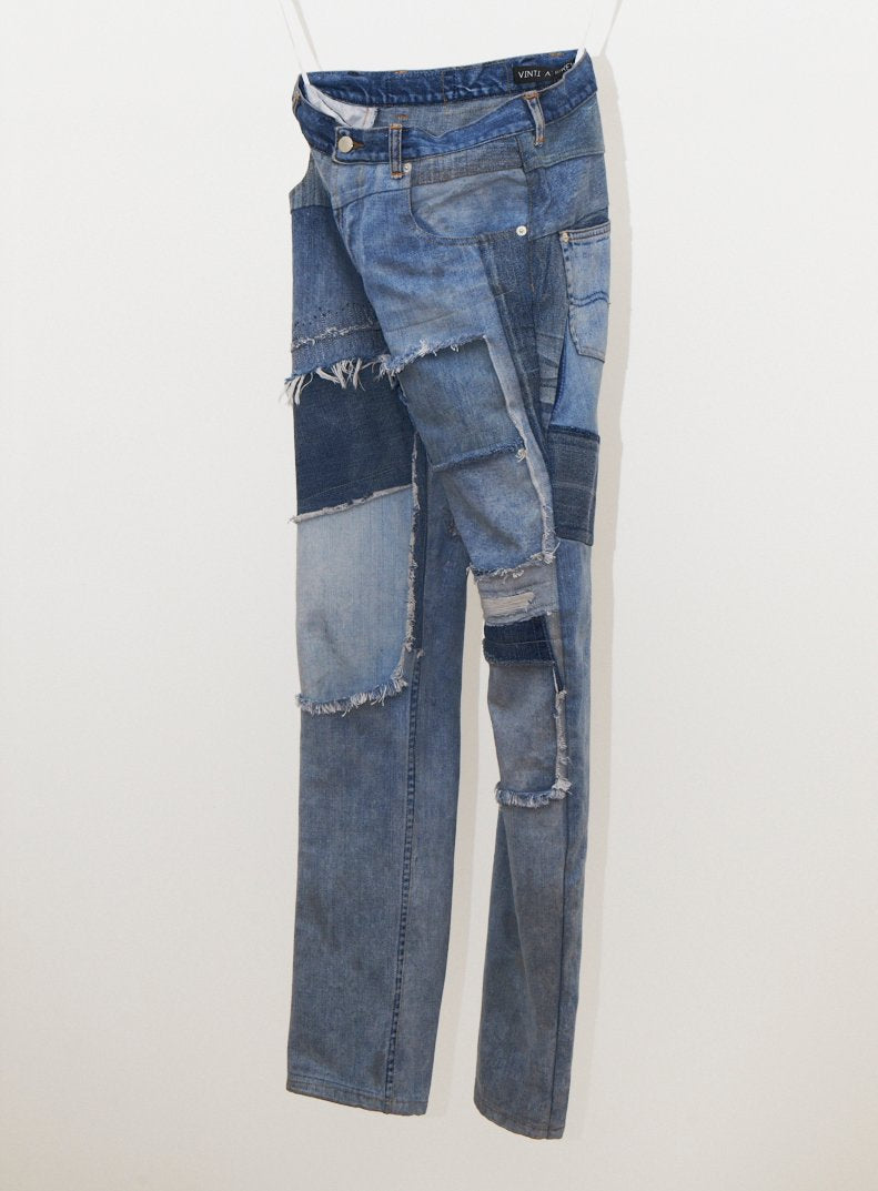 Reworked Patched Jeans