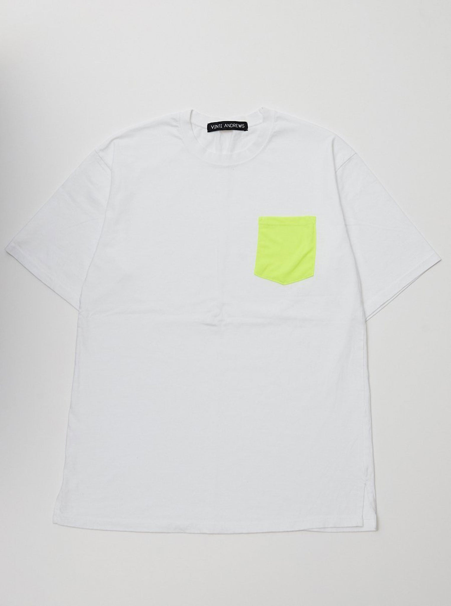 Vinti Andrews Neon Pocket T-Shirt White
