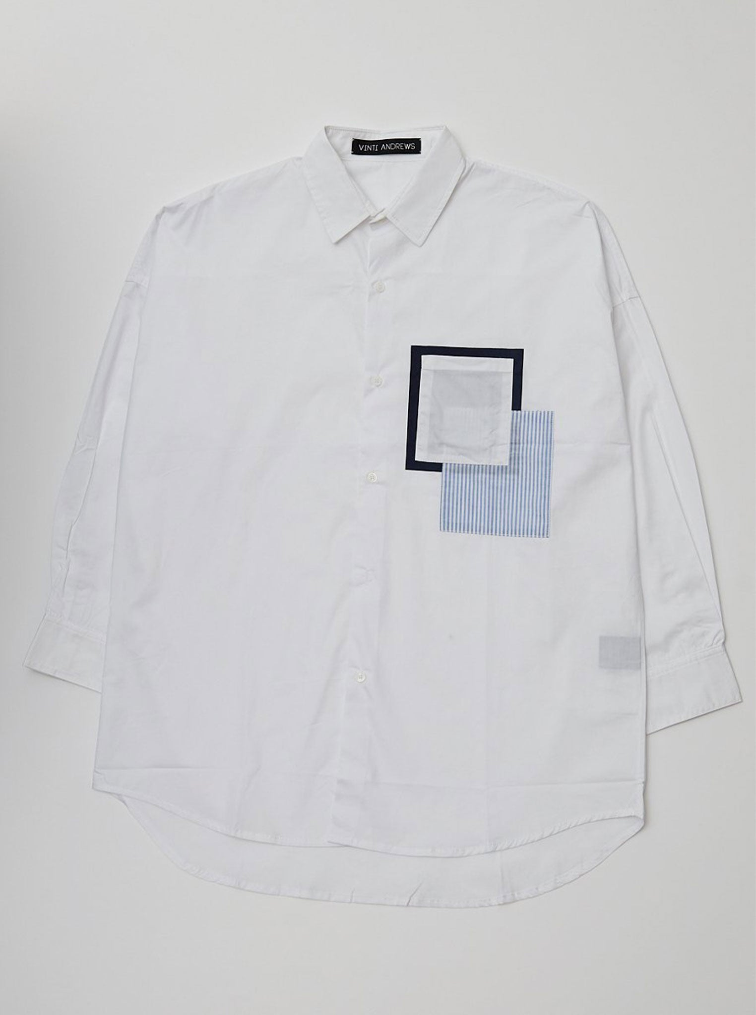 Vinti Andrews Pocket Shirt White