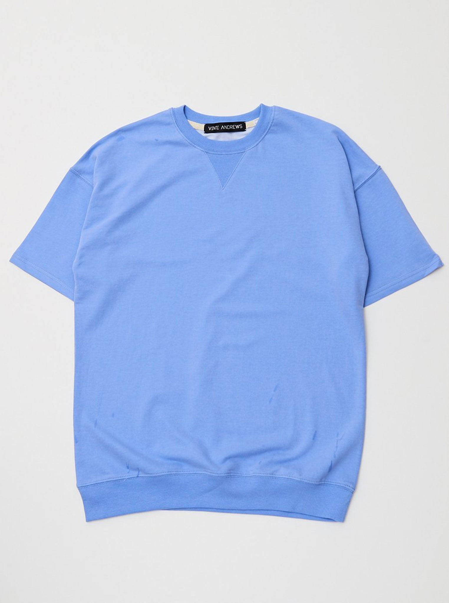 Vinti Andrews Short Sleeves Sweatshirt Blue