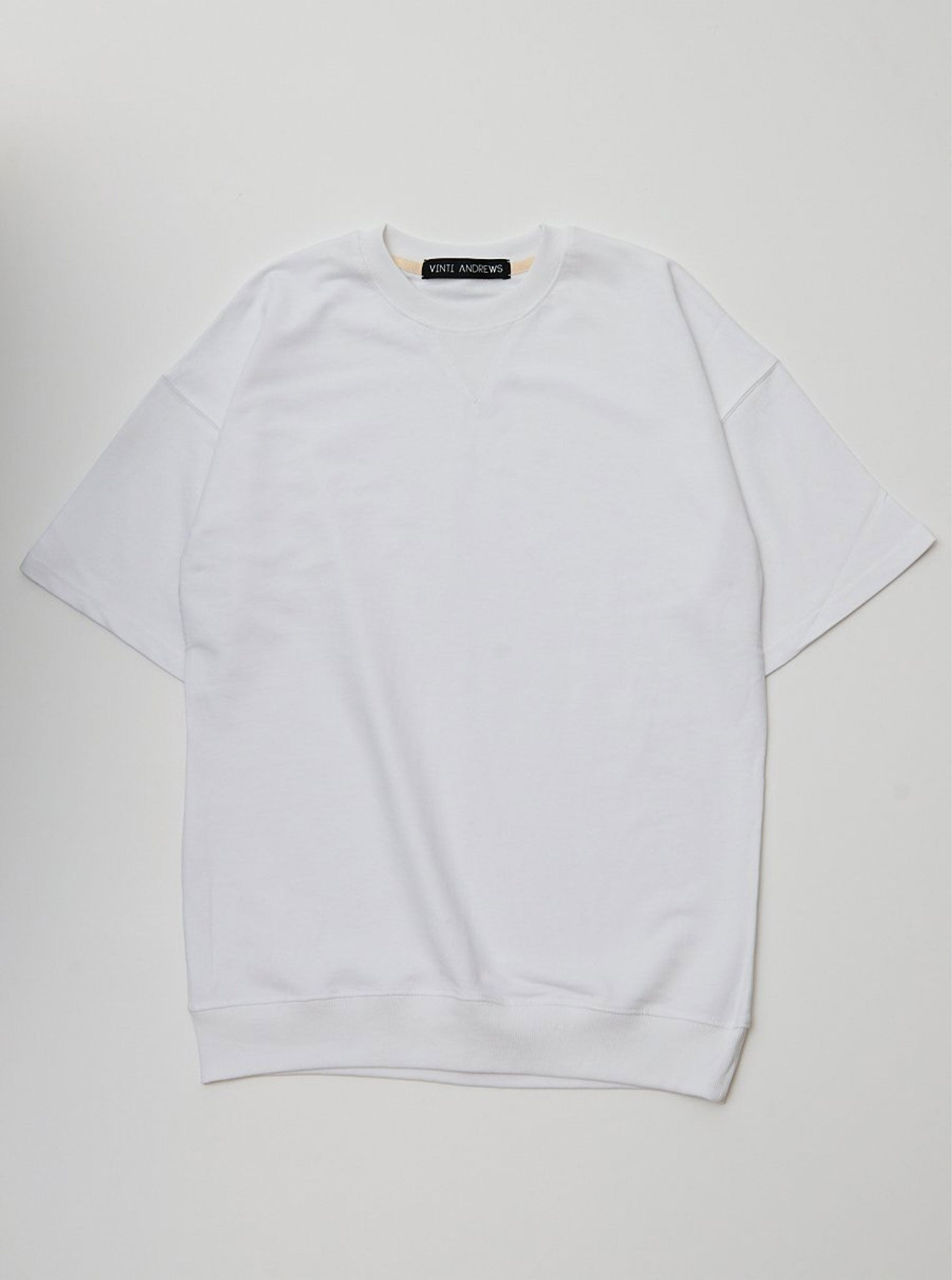 Vinti Andrews Short Sleeves Sweatshirt White