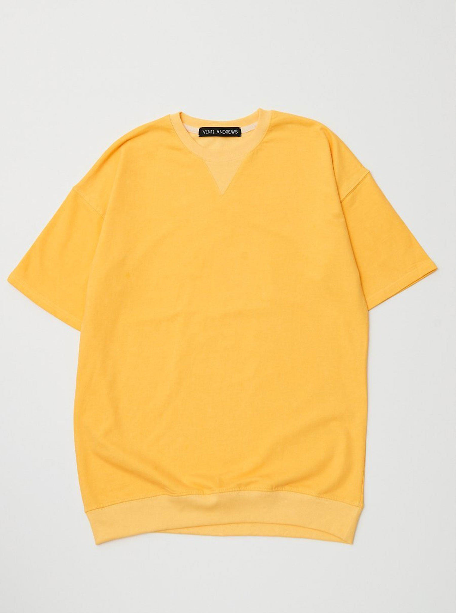 Vinti Andrews Short Sleeves Sweatshirt Yellow
