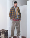 Vinti Andrews Shirt Jacket Wool Plaid