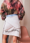 Vinti Andrews Sweater Jean Skirt